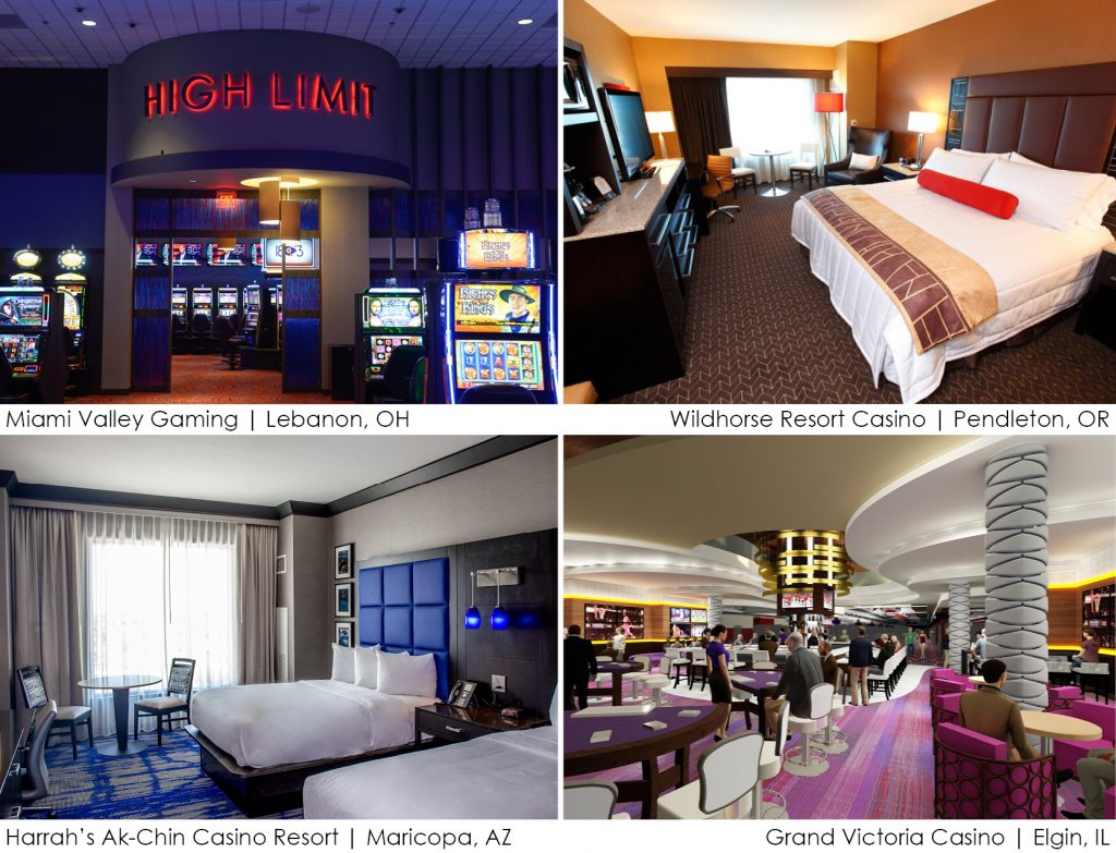 Gaming and hospitality projects worked on by Holly Webb