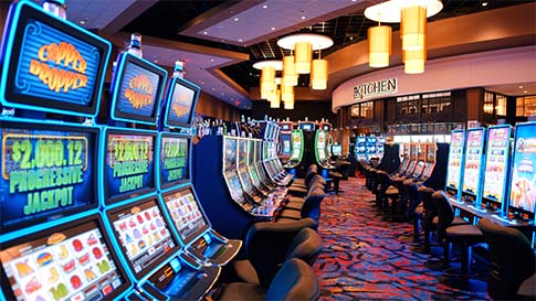 Inside the new Quil Ceda Creek Casino. Design by TBE Architects.